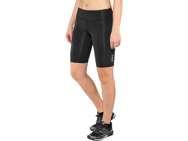2XU Mid-Rise Compression Pantaloncini Donna, black/dotted reflective logo